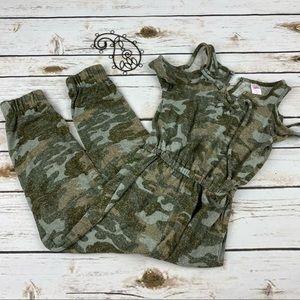 Justice Jumpsuit Long Romper 6 Girls Camouflage